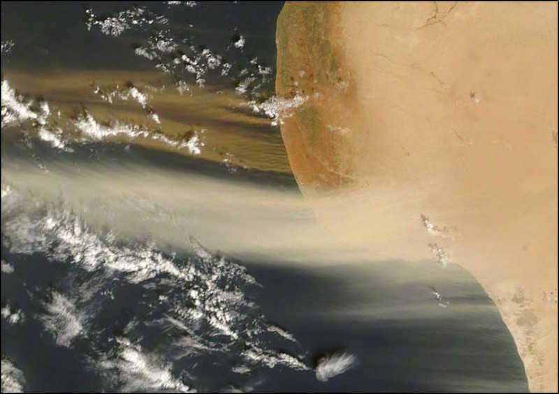Libia widoczna z kosmosu