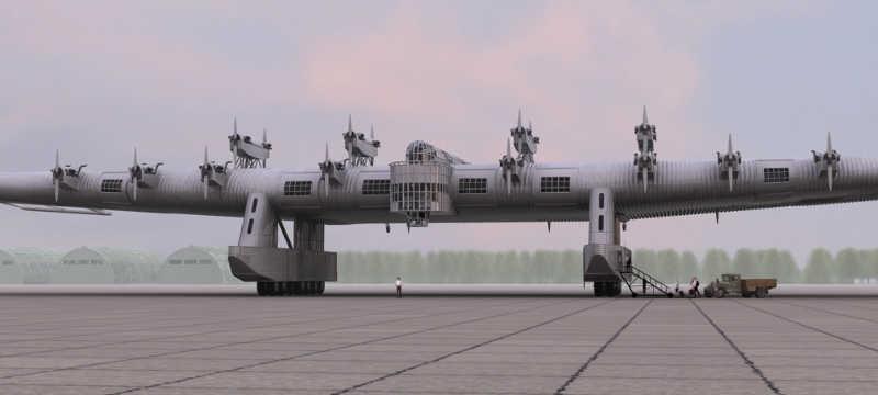 Wojskowa wersja z widocznymi karabinami maszynowymi