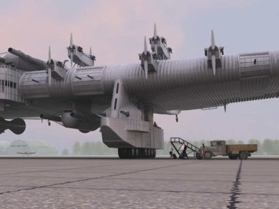 Ciężarówka stojąca przy samolocie oddaje ogrom projektu