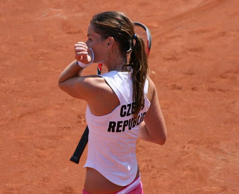Czeska tenisistka w trakcie przerwy w meczu