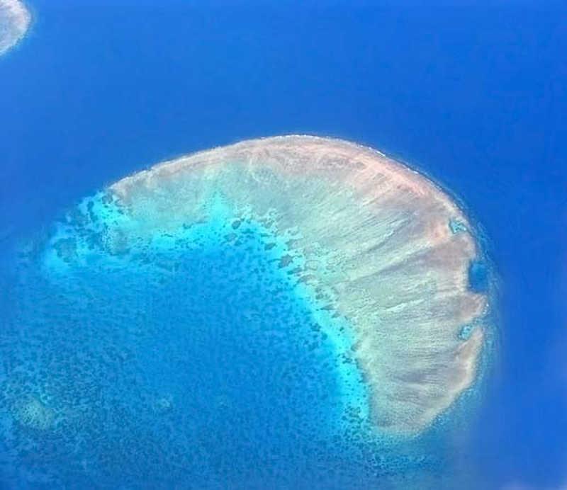Widok z lotu ptaka Wielkiej Rafy Koralowej