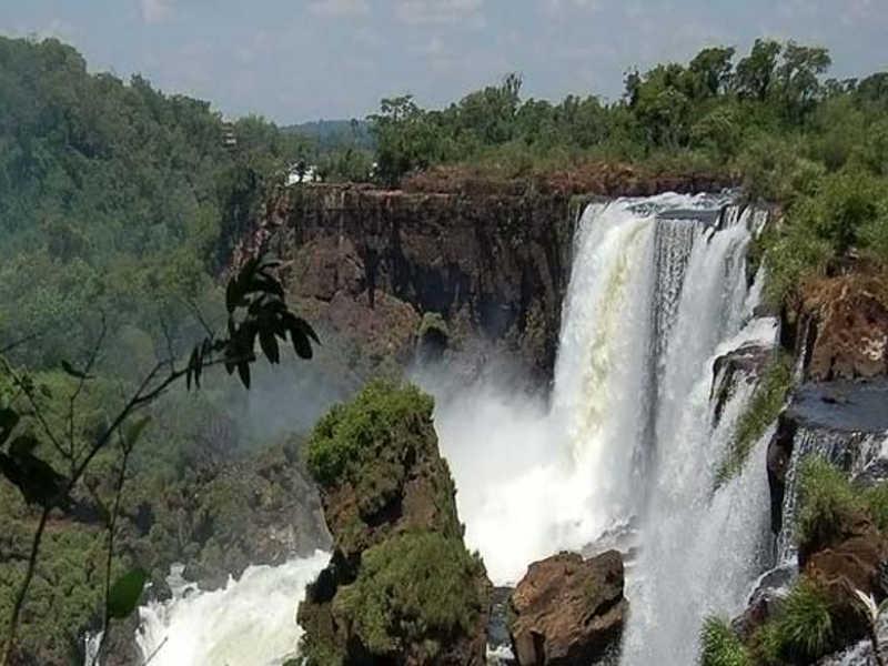 Widok wodospadu Iguazú