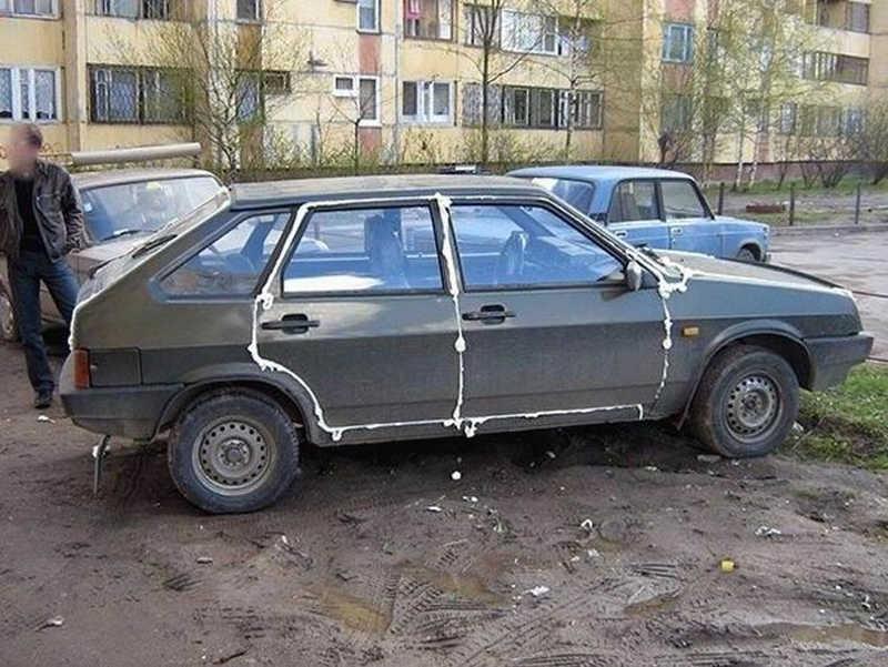 Zaklejone drzwi samochodu piana montażową