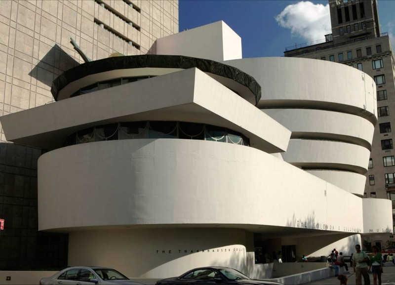 Owalne kształty budynku
