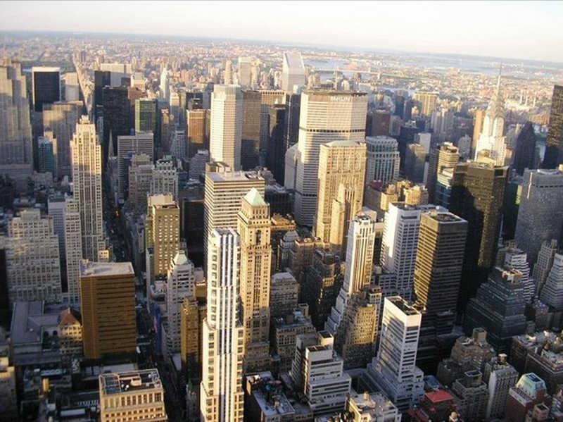 Widok centrum miasta z lotu ptaka