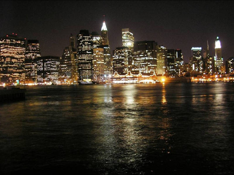 Miasto Nowy Jork nocą
